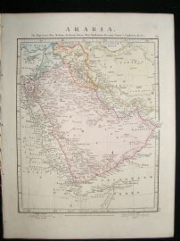 Arabia: 1864 Antique Map, Aaron Arrowsmith